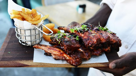 Southern-style barbecue ribs