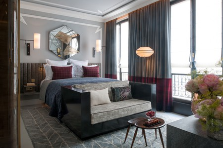 The rooms at Nolinski are elegant and beds come complete with French cotton linens