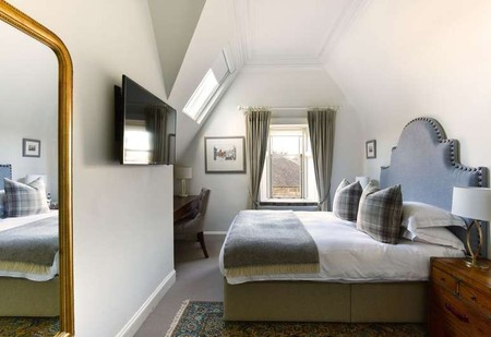 The rooms at The Dunstane Houses are decorated in a pared-down traditional style