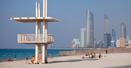The public beach, Abu Dhabi, United Arab Emirates
