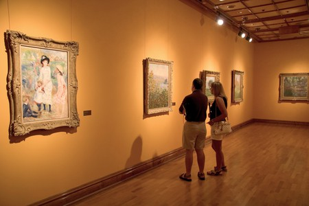 Art display, The Bellagio Gallery of Fine Art, Bellagio resort, on the Strip in Las Vegas, Nevada, USA