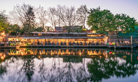 Freischwimmer's waterside location provides a relaxing dining experience