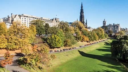 Walk through East Princes Street Gardens on your trip to Edinburgh