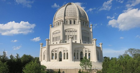 The Bahá'í House of Worship in Wilmette, Illinois, is the oldest temple of its kind in the world