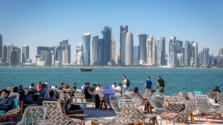 Doha has a lively bar scene and views of the city across the water are quite something