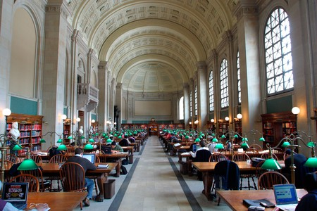 Bates Hall at Boston Public Library, Boston