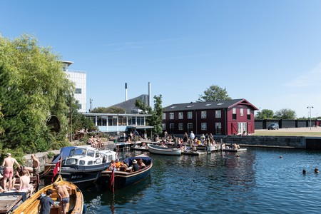 Swimming in the harbour is a popular summer activity in Copenhagen