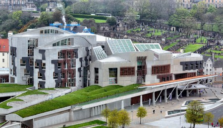Take a tour of the Scottish Parliament building