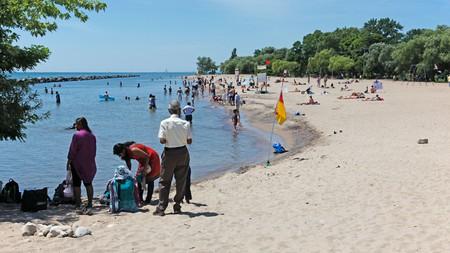 Centre Island Park's sandy beach on Lake Ontario, Toronto