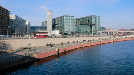 The Berliner Hauptbahnhof is Berlin's main railway station