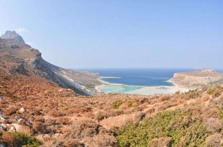 Balos lagoon in Crete island Greece