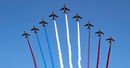French jets mark Bastille Day in Paris in 2018