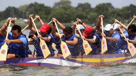 The Hong Kong Dragon Boat Festival in Queens, New York is a yearly celebration
