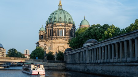 The Berlin Cathedral by the river Spree
