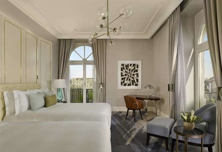 Guest room at The Ritz-Carlton Budapest