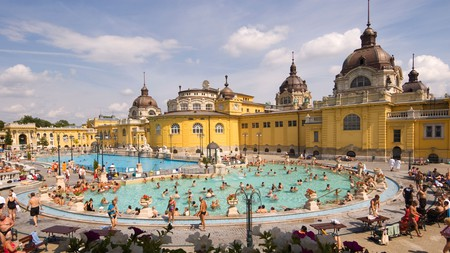 Budapest's Széchenyi Baths are renowned for their Neo-Baroque and Neo-Renaissance architecture