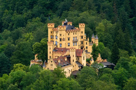 View of Hohenschwangau Castle from Neuschwanstein Castle