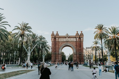 The Arc de Triomf was originally the gateway to the 1888 Barcelona Universal Exposition