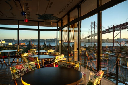 Look out over Lisbon while dining on first-class food at Rio Maravilha