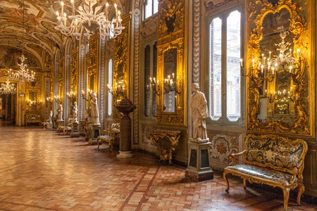 Gallery of mirrors at Palazzo Doria Pamphilj, Rome, Italy. Image shot 2013. Exact date unknown.