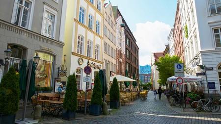 The Old Street of Deichstrasse, Hamburg