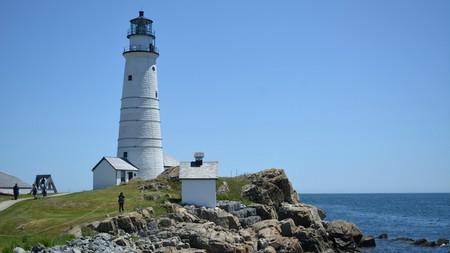 Boston Light light station, sitting on the edge of Boston Harbor atop Little Brewster Island