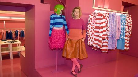 Agatha Ruiz de la Prada at the Agatha Ruiz de la Prada's store