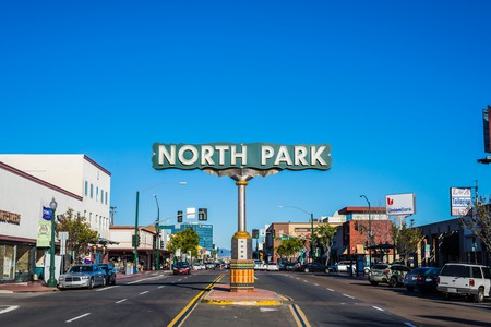 Coffee shops, bars and other attractions line University Avenue in North Park