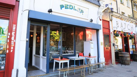 Pedler features an ever-changing European-inspired menu and creative cocktails