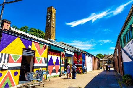 Copeland Park, a cultural complex in Peckham, is indicative of the area's arty vibe
