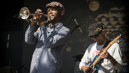 The South African band Tune Recreation Committee performs at Bushfire 2019