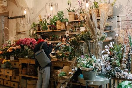 La Ménagère is a multi-use space, complete with a flower shop