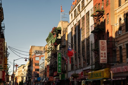 Manhattan's Chinatown is the home of restaurants, street markets and Columbus Park