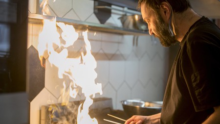 Chef Grigoris Helmis wanted to preserve the traditional tsipouro bar –but with a modern twist