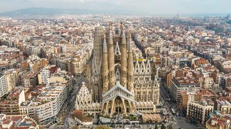 The Sagrada Família in Barcelona is a Gaudí masterpiece