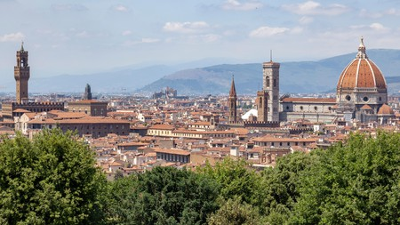Enjoy the sweeping views of Florence from Piazzale Michelangelo