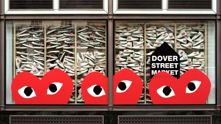 SS15 CDG Play X Converse window display at DSM
