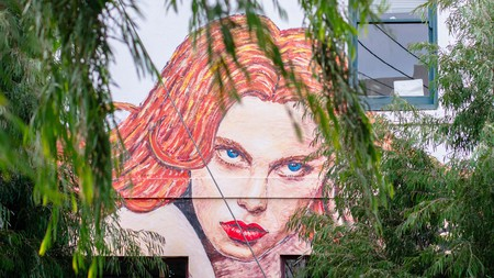 The densely decorated neighbourhood of Fitzroy celebrates street murals and graffiti art