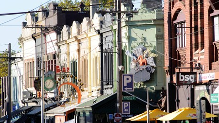 Find the Alcaston Gallery in the hipster area of Brunswick Street in Fitzroy, Melbourne