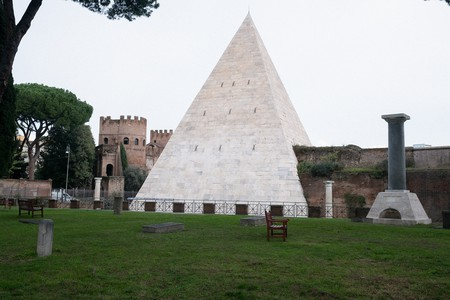 The Pyramid of Cestius is an iconic symbol of Testaccio