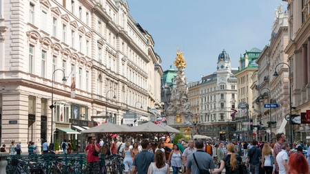 Vienna sprawls out like a star around Innere Stadt