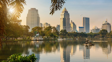 Lumphini Park is a great place in Bangkok to watch the sunrise