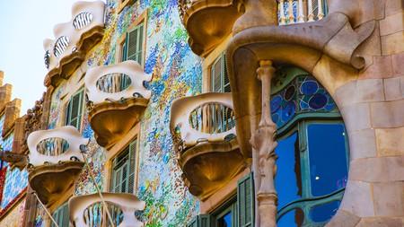 Casa Batllo building in Barcelona, Spain
