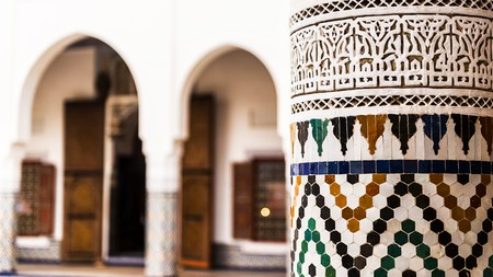 The Ben Youssef Madrasa is one of the most beautiful expressions of Islamic architecture in Marrakech