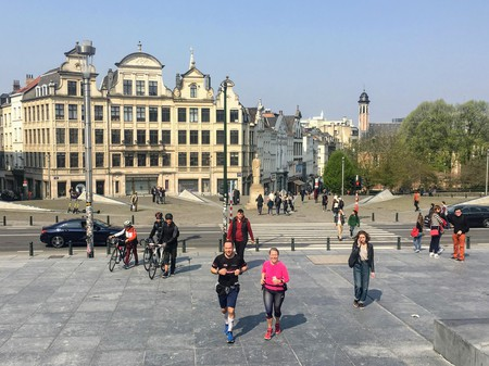 Jogging allows you to reach the must-see spots of the Belgian capital quickly and easily