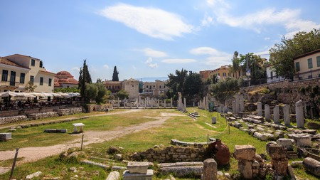 Journey back to antiquity at the Roman Agora in Athens, Greece