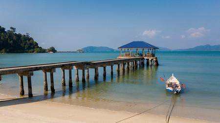 Teluk Dalam beach on Pangkor island in Malaysia