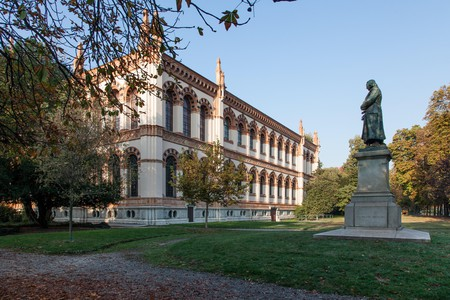 The Natural History Museum in Milan is the city's oldest civic museum and is located in a beautiful park