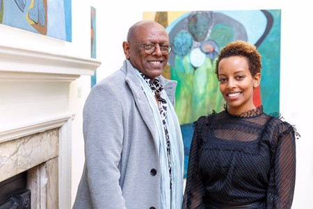 Rakeb Sile, a London-based art collector and businesswoman, opened Addis Fine Art gallery together with veteran art collector Mesai Haileleul after noticing a lack of Ethiopian representation in the international art world