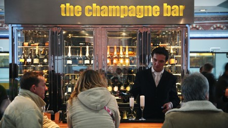 The champagne bar at St Pancras is the perfect spot for the pre-transit tipple